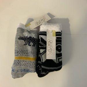 Gilligan & O'malley Holiday Fuzzy Socks Med4-10.